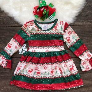 Other - Toddler Girl Boutique Reindeer Dress Set
